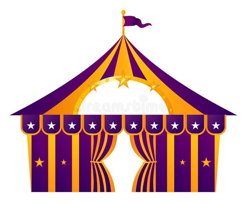 cyrkowy purpurowy namiot ilustracja wektor