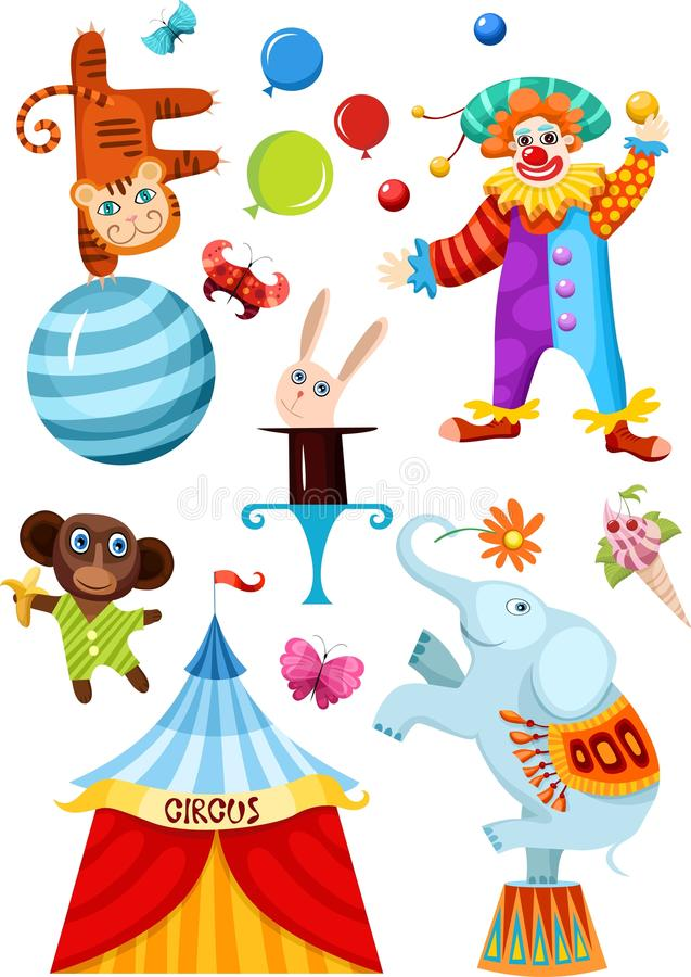 cyrkowy set royalty ilustracja