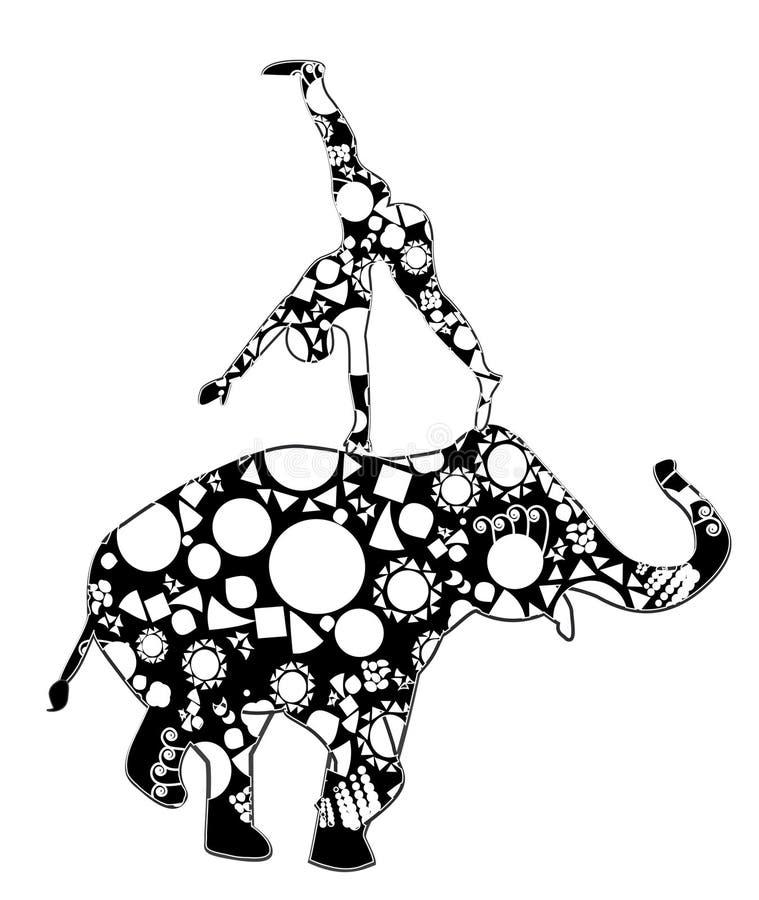 cyrkowy występ ilustracja wektor