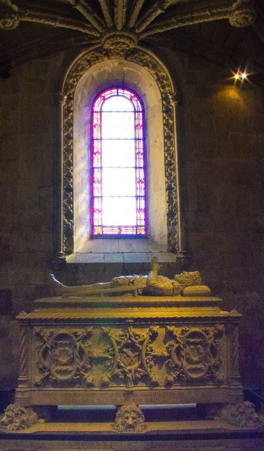 A Cyrpt Inside the Santa Maria d Belem Church in Lisbon stock image