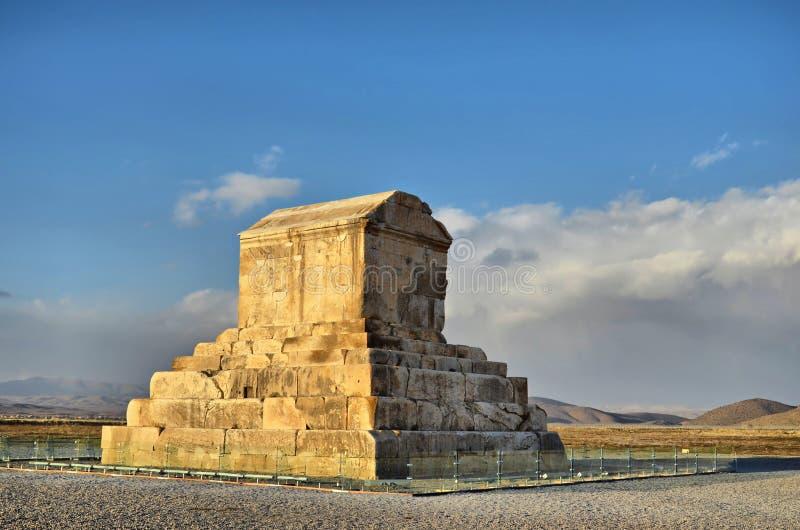 Cyrus den stora gravvalvet royaltyfri fotografi