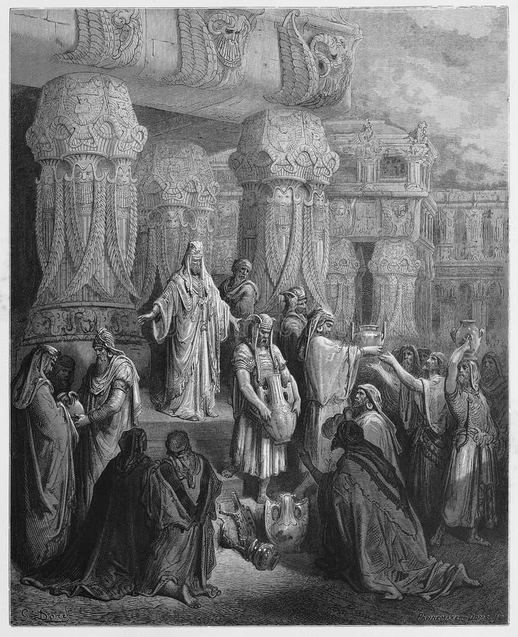 Cyrus König von Persien stellt das Gold und das Silber wieder her lizenzfreie abbildung