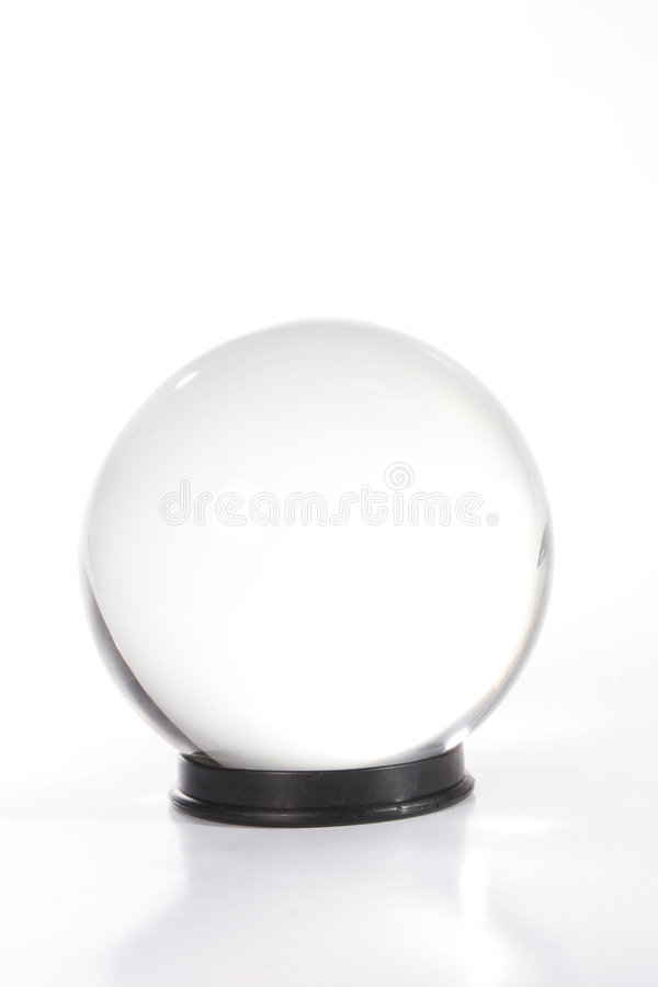 cystal σαφές λευκό σφαιρών στοκ εικόνα με δικαίωμα ελεύθερης χρήσης