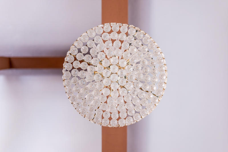 Cystal ceiling lamp. This image was shot in Thailand stock photography