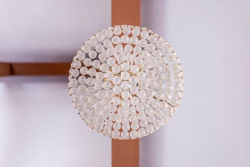 Cystal podsufitowa lampa fotografia stock