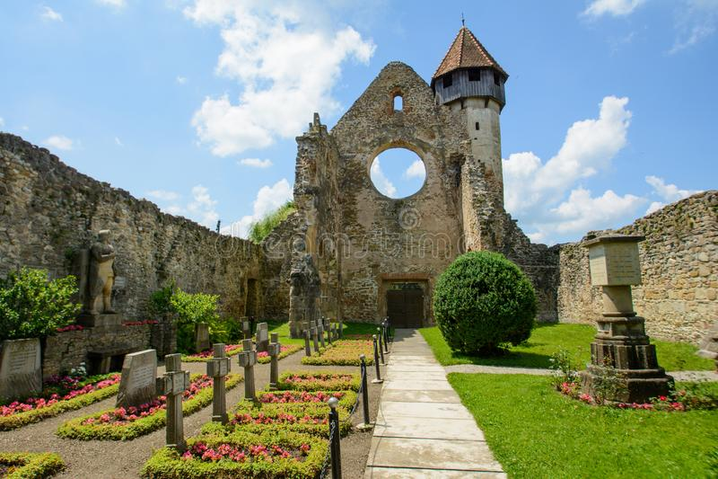 Cysterski monaster od Carta wioski blisko Sibiu, Transylvania, Rumunia fotografia stock