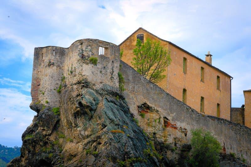 Cytadela Corti, Corsica zdjęcia royalty free
