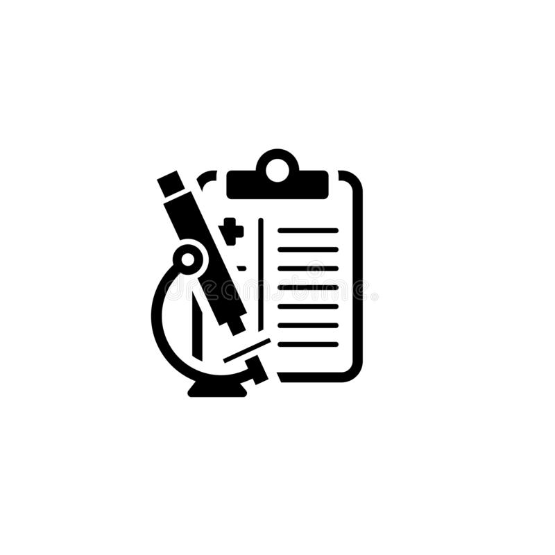 Cytology and Medical Services Flat Icon vector illustration