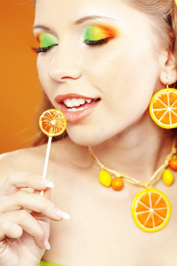 cytrusa makeup fotografia stock