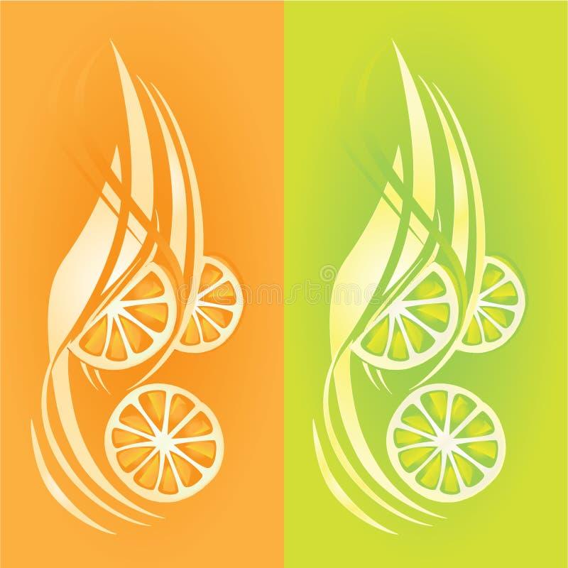 cytryn pomarańcze ilustracji