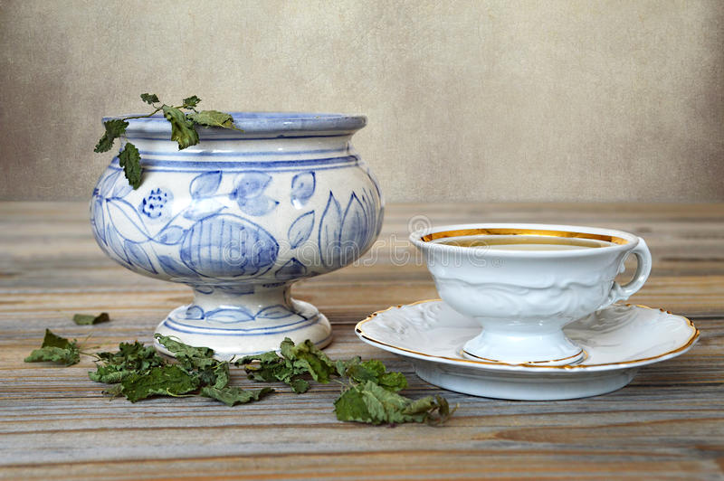 Cytryna balsamu herbata obraz royalty free