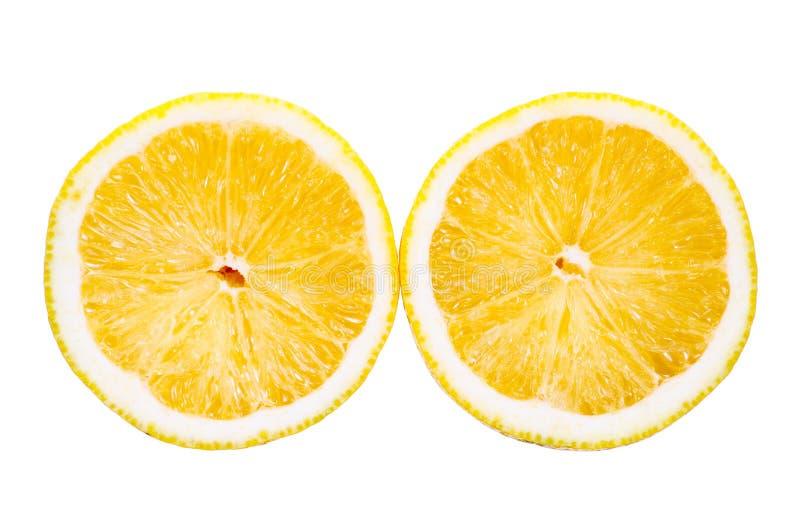 Cytryna ciąca na białym tle zdjęcie stock