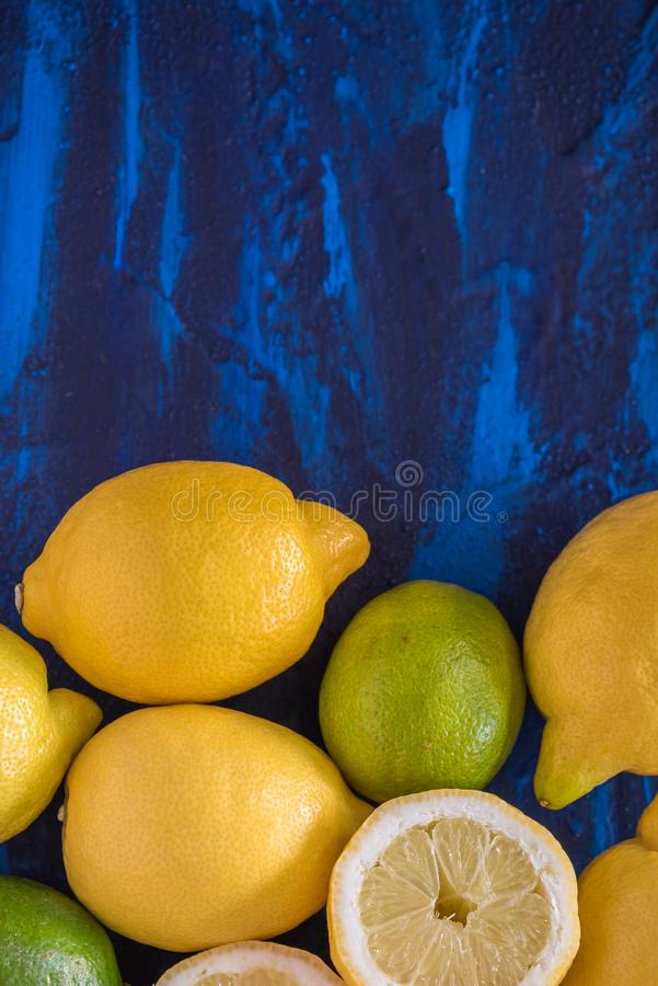 Cytryna i Wapno obrazy royalty free