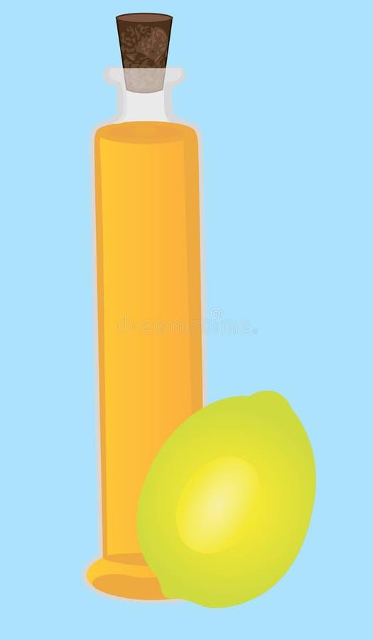 Cytryna istotnego oleju Aromatherapy gojenie, opieka zdrowotna ilustracja wektor