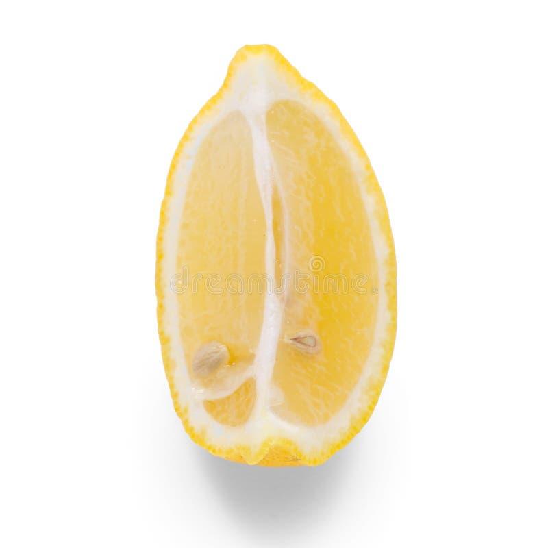 Cytryna kawałek na białym tła odosobnieniu zdjęcie royalty free