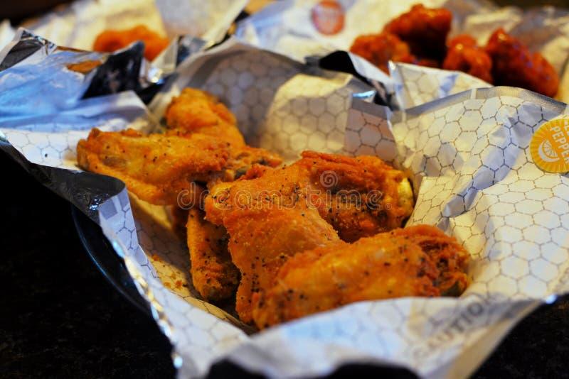 Cytryna kurczaka pieprzowi skrzydła zdjęcia royalty free