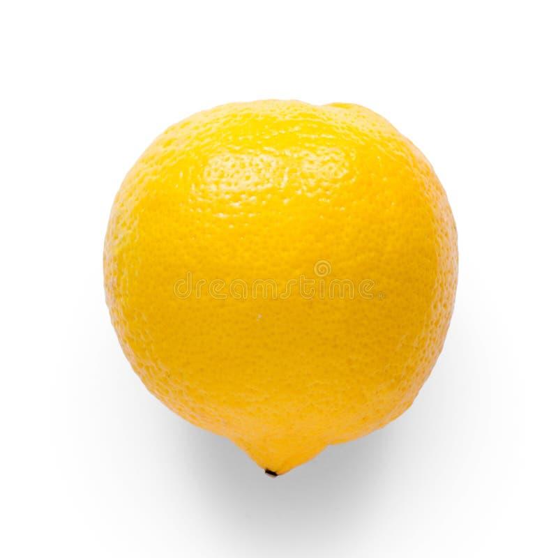 Cytryna na białym tła odosobnieniu fotografia stock