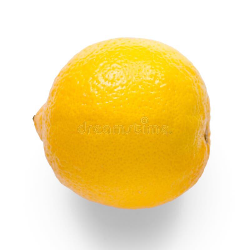 Cytryna na białym tła odosobnieniu zdjęcie stock