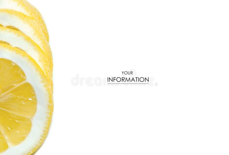 Cytryna pokrojony makro- wzór fotografia royalty free