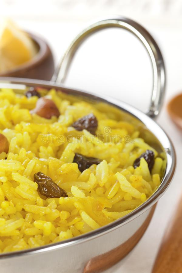 Cytryna Rice w Balti naczyniu obrazy stock