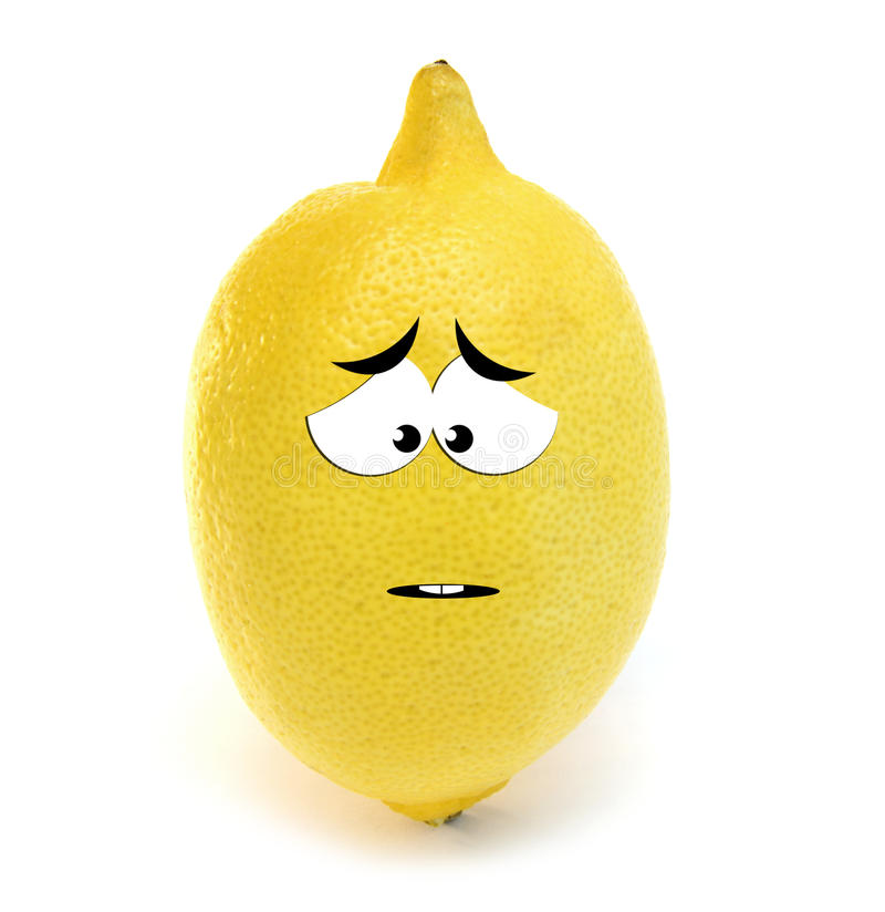 cytryna smutna ilustracji