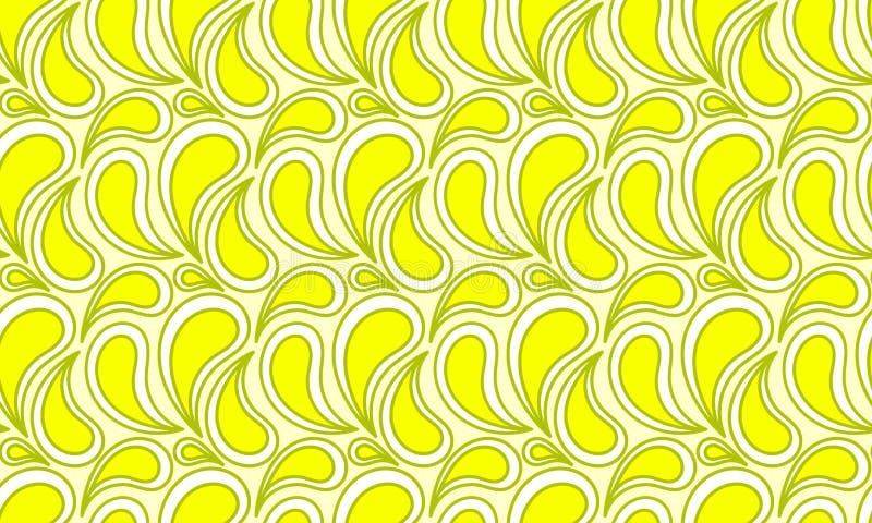 Cytryna sok Opuszcza Bezszwową teksturę ilustracja wektor