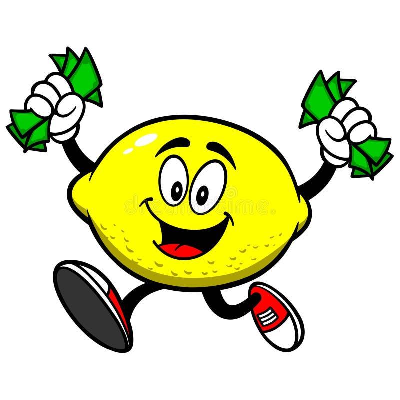 Cytryna z pieniądze royalty ilustracja