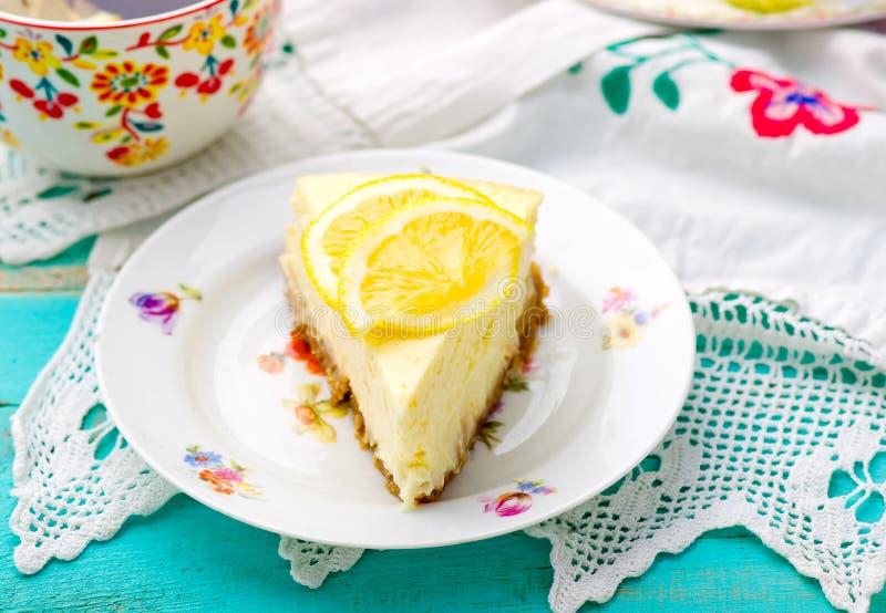 Cytryny cheesecake obrazy stock