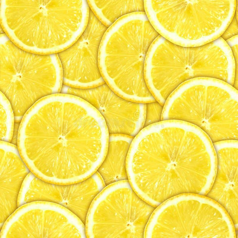 cytryny deseniowy bezszwowy plasterków kolor żółty zdjęcie royalty free