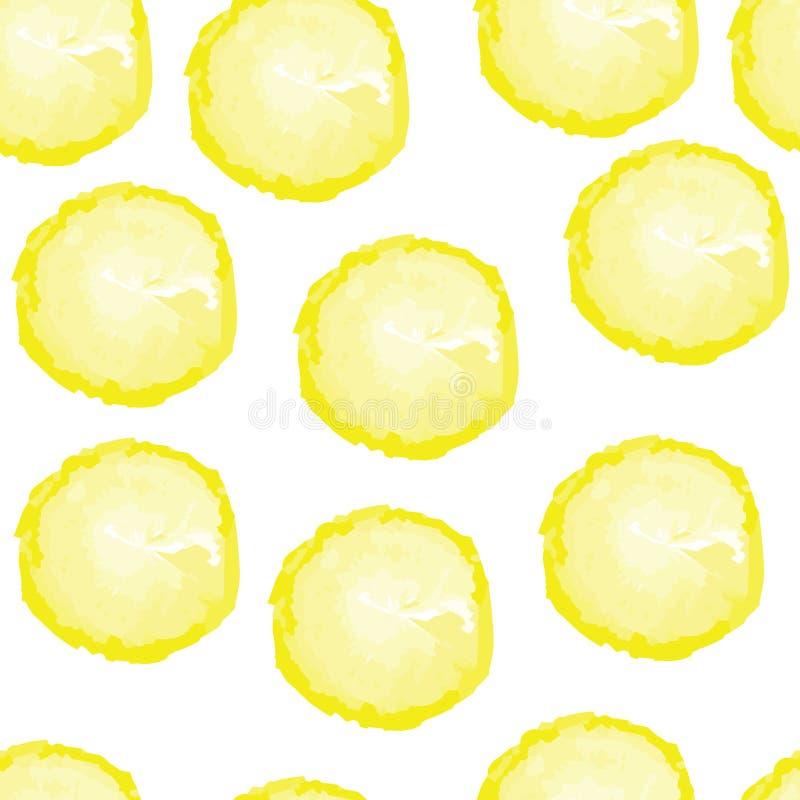 cytryny deseniują bezszwowego zdjęcie royalty free