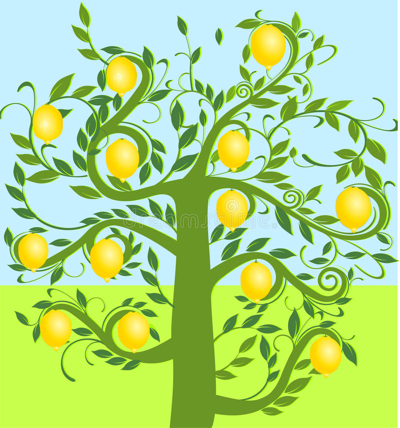 cytryny drzewo royalty ilustracja