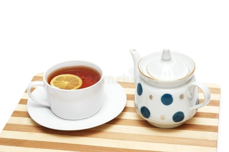 cytryny filiżanki herbaty zdjęcie stock