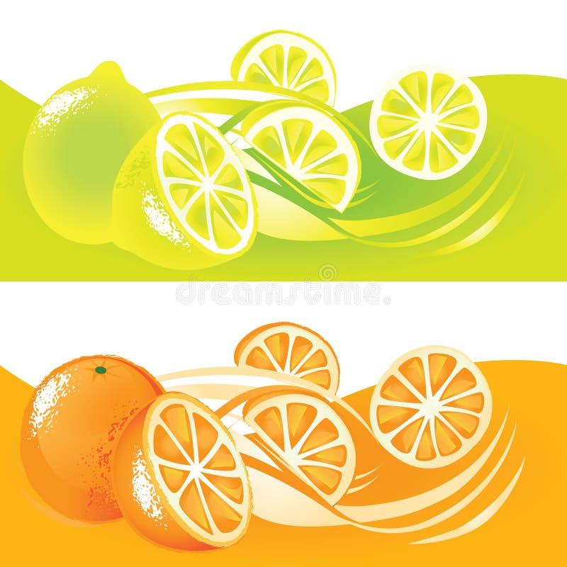 Cytryny i Pomarańcze ilustracji