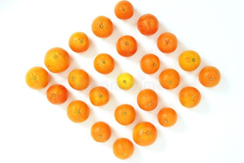 Cytryny i pomarańcze matryca obrazy stock