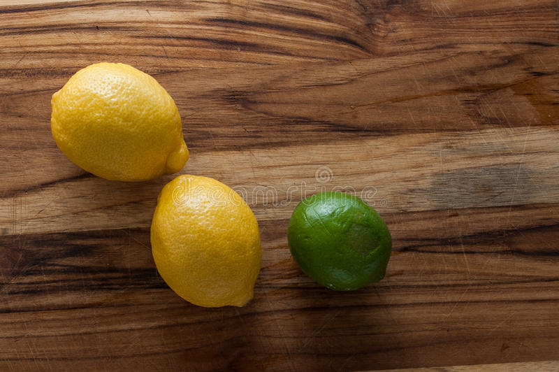 Cytryny i wapno zdjęcia stock