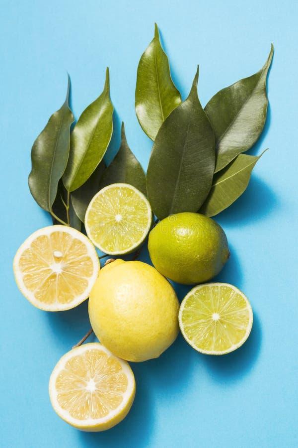 Cytryny i wapno obrazy stock