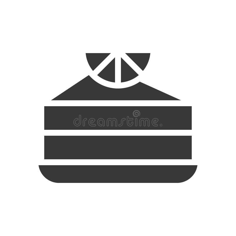 Cytryny lub pomarańcze tort piekarnia i ciasto set, glif ikona royalty ilustracja
