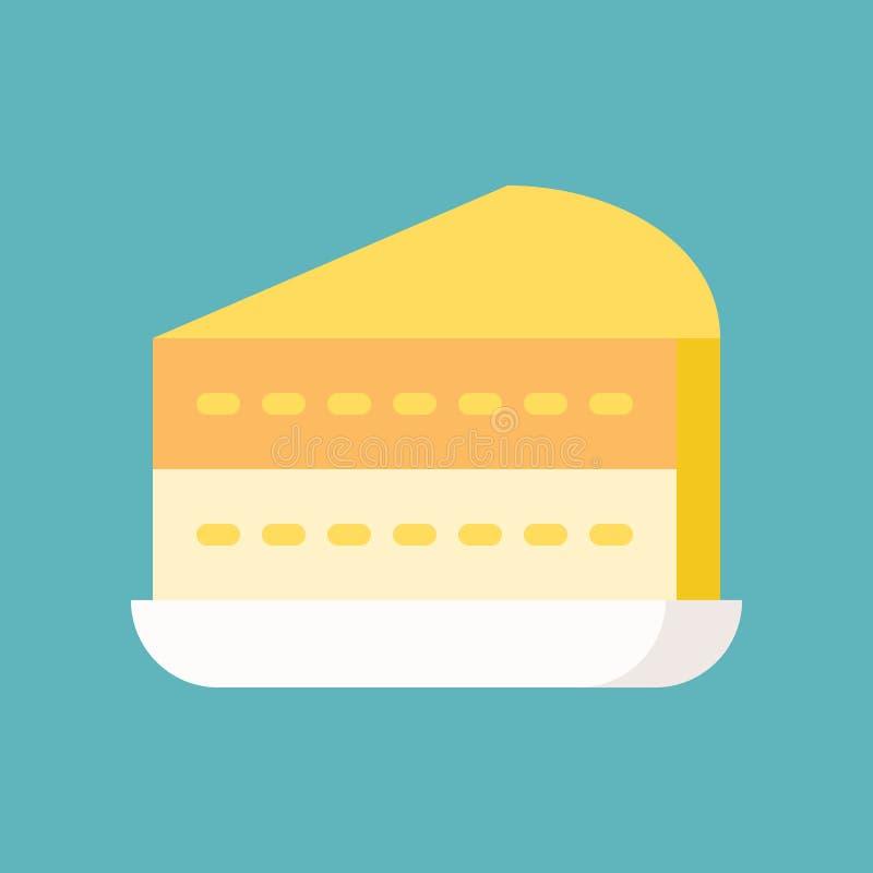 Cytryny lub warstwy tort cukierki i ciasto set, płaska projekt ikona royalty ilustracja