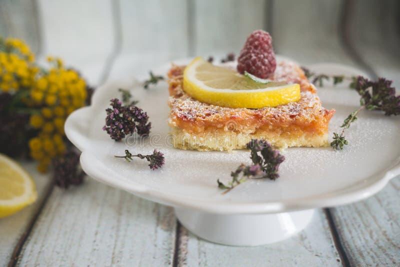Cytryny, wanilii i malinki bary, zdjęcia stock