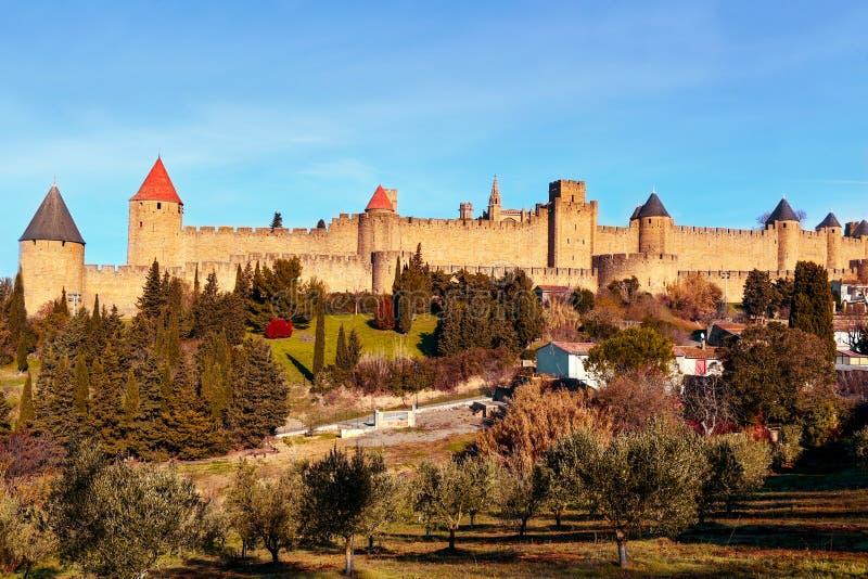 Cytuje de Carcassonne w Carcassone, Francja zdjęcie stock