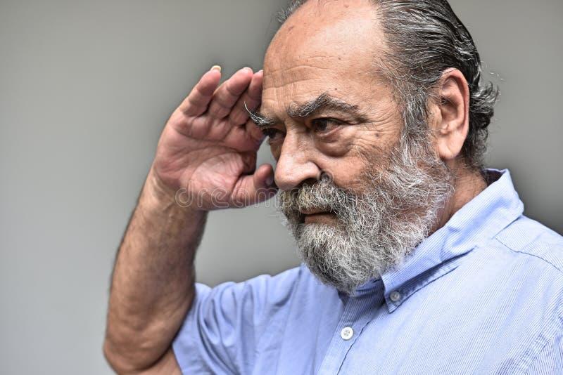 Cywil Przechodzić na emeryturę Militarny weterynarza Salutować fotografia royalty free