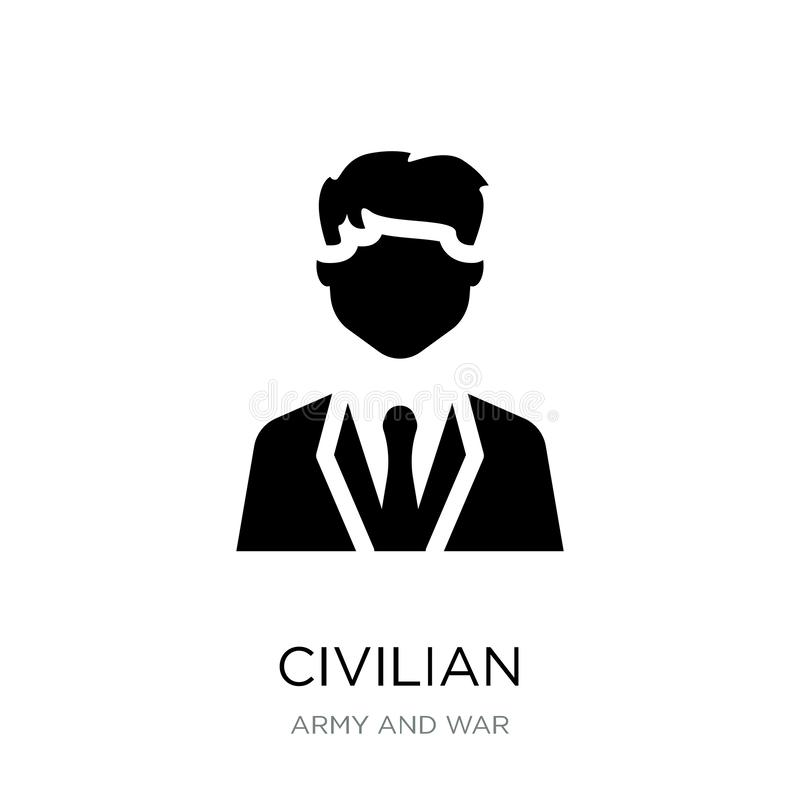 cywilna ikona w modnym projekta stylu cywilna ikona odizolowywająca na białym tle cywilnej wektorowej ikony prosty i nowożytny mi ilustracji