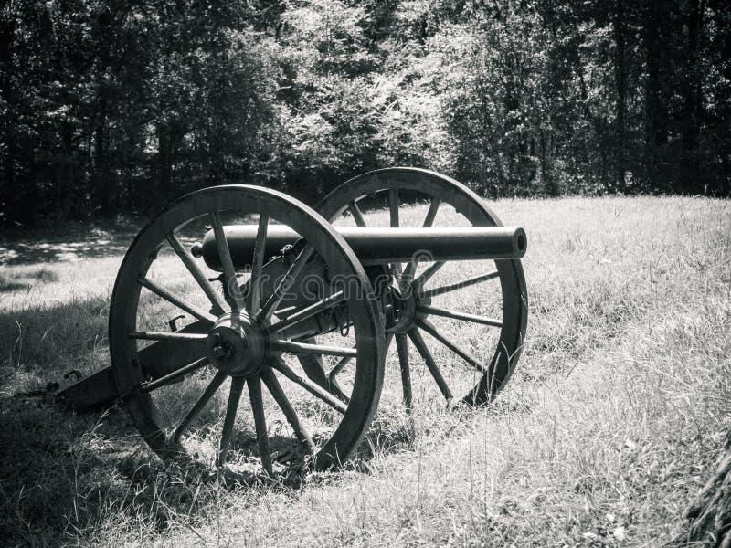 Cywilna wojna Canon Vicksburg Mississipp zdjęcie stock