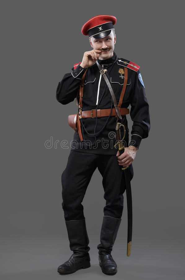 Cywilna wojna w Rosja, Rosyjska Cywilna wojna 1918-1922, bielu strażnik, C fotografia royalty free