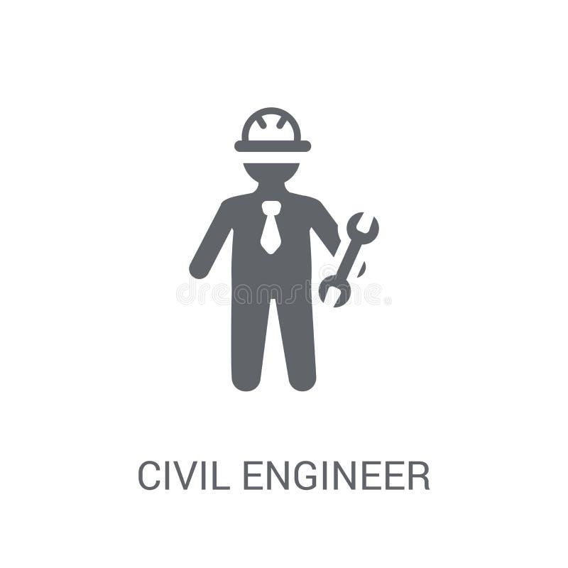 Cywilnego inżyniera ikona  ilustracji