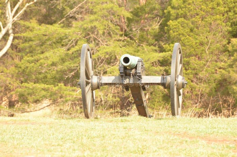 Cywilnej wojny działo, MANASSAS pola bitwy KRAJOWY park VIRGINIA, MAR 15, 2016 obraz royalty free
