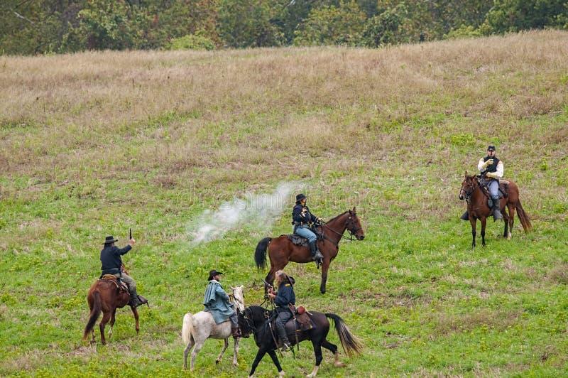 Cywilnej wojny reenactment zdjęcie royalty free