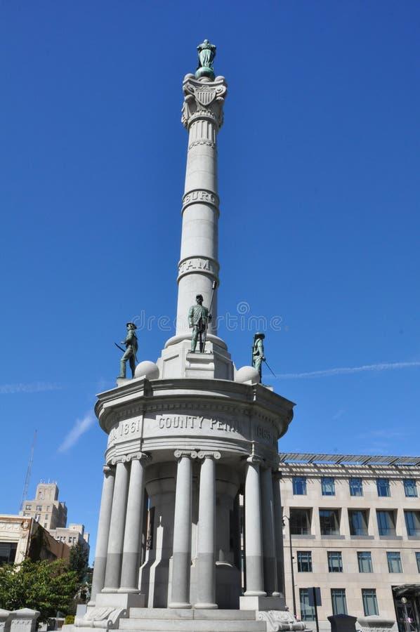 Cywilnej wojny zabytek, Lackawanna okręgu administracyjnego gmach sądu, Scranton, Pennsylwania fotografia stock