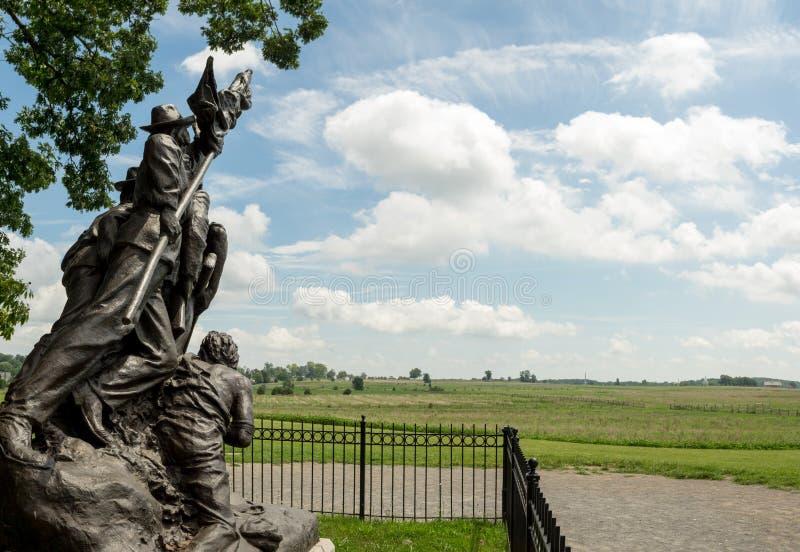 Cywilnej wojny zabytek przy Gettysburg polem bitwy zdjęcie stock
