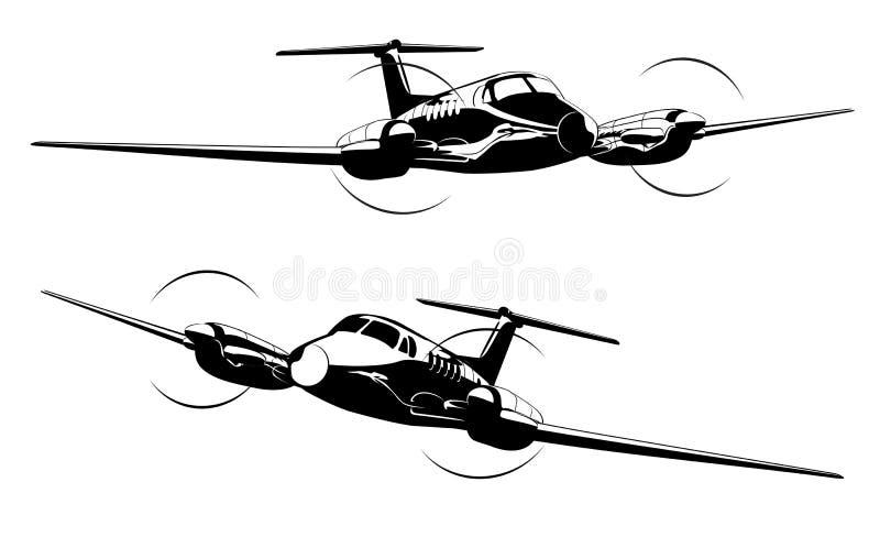 Cywilny oszczędnościowy samolot ilustracja wektor